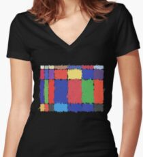 Childhood Colours Women's Fitted V-Neck T-Shirt