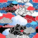 Seamless bright pattern from different clouds by Tanor