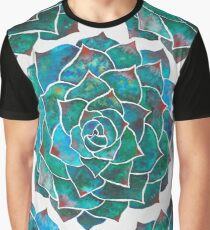 Rosette succulent pattern Graphic T-Shirt