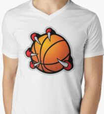 Basketball with Claws Men's V-Neck T-Shirt