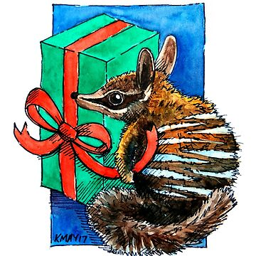 Christmas Numbat wrapping presents by amayzing