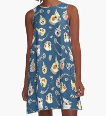 Cockatiel Screm A-Line Dress