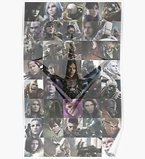 Paragon Heroes With Logo Poster