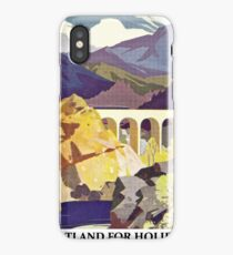 Scotland for holidays iPhone Case/Skin