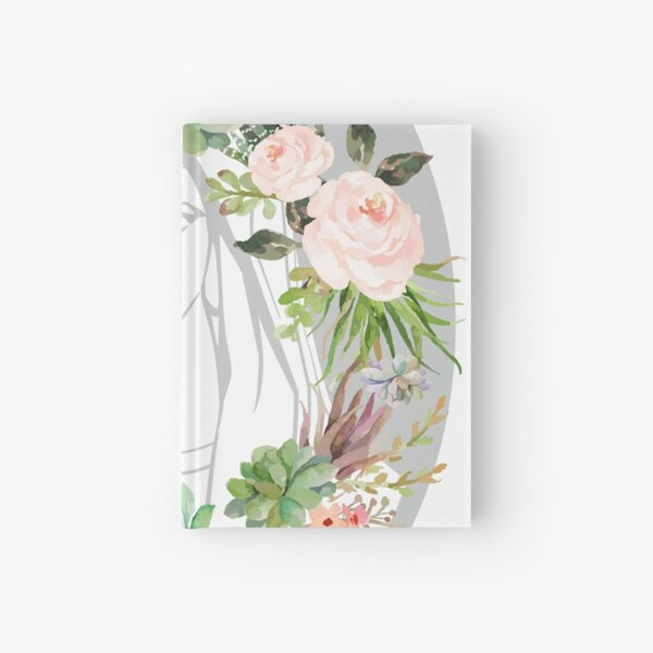 Our Lady Virgin Mary Floral Design Pray for Us Religious Catholic Christian Faith Beautiful Madonna child Hardcover Journal