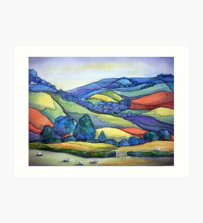 Devonshire Quilt Art Print