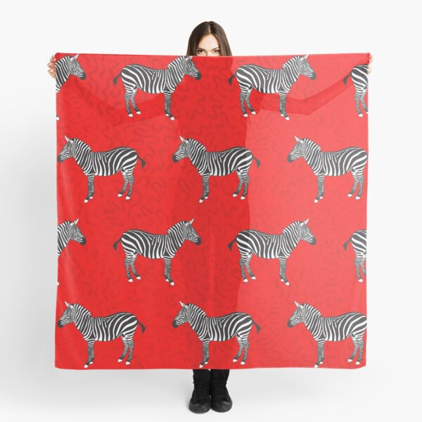Zebra Red Scarf