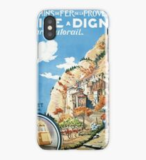 Scenic train from Nice to Digne, vintage travel Poster iPhone Case/Skin