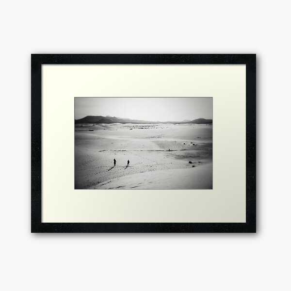 The journey of a thousand miles  Framed Art Print