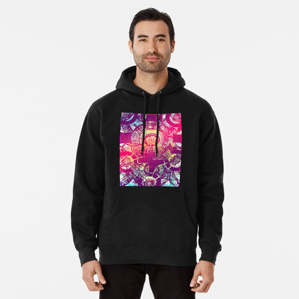Golden Rose In Chaos  Pullover Hoodie