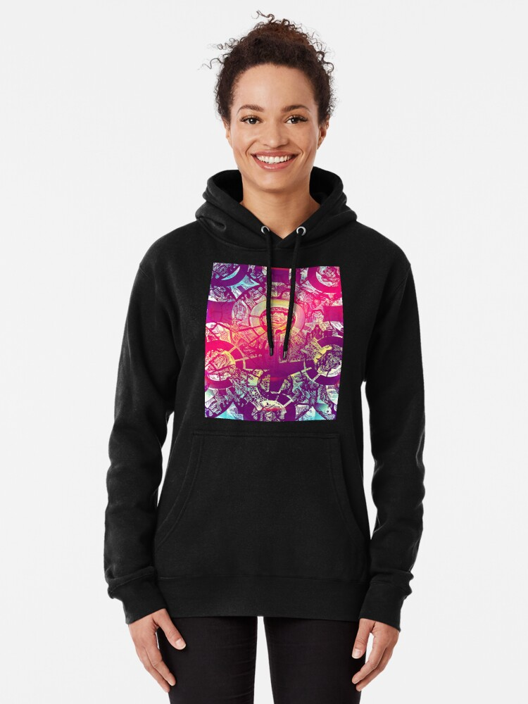 Alternate view of Golden Rose In Chaos  Pullover Hoodie