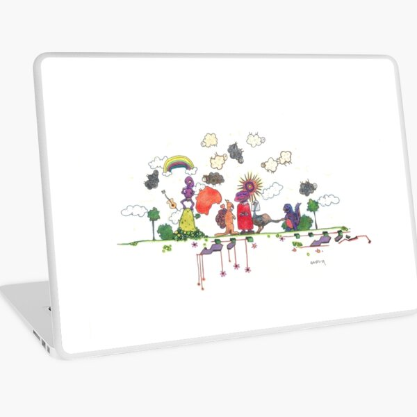 who invited the dinosaur? Laptop Skin