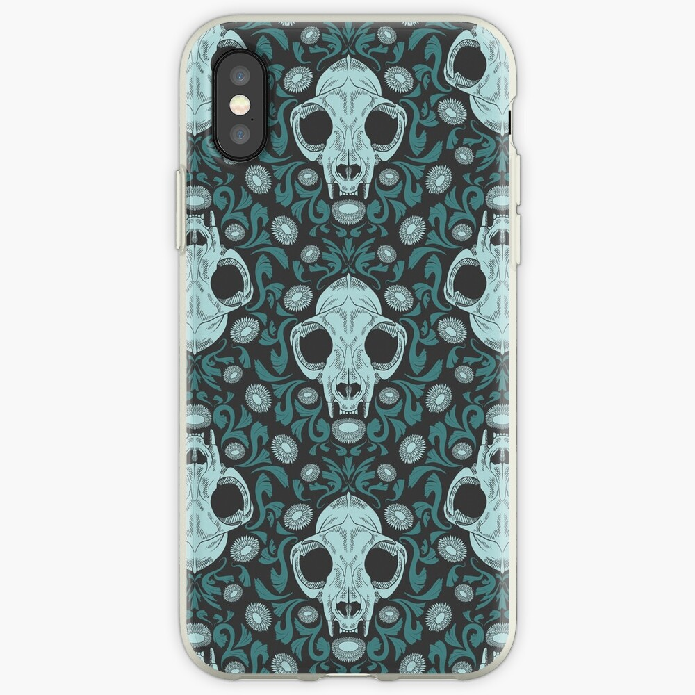 Damascats - Teal iPhone Case & Cover