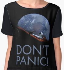 Spacex DON'T PANIC In Space Chiffon Top
