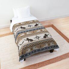 Boho cats | Domestic house cat tan Comforter