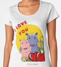 Hippo hippos I love you Women's Premium T-Shirt