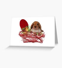 Easter fluffy animals Greeting Card
