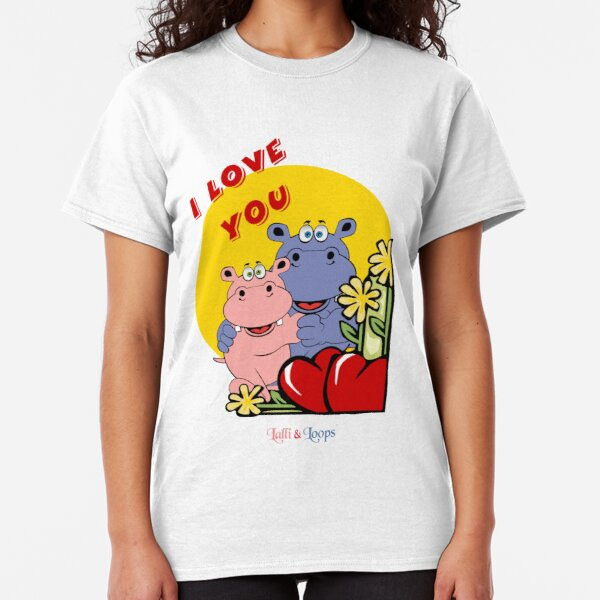Hippos Nilpferde Lalli und Loops I love you  Classic T-Shirt