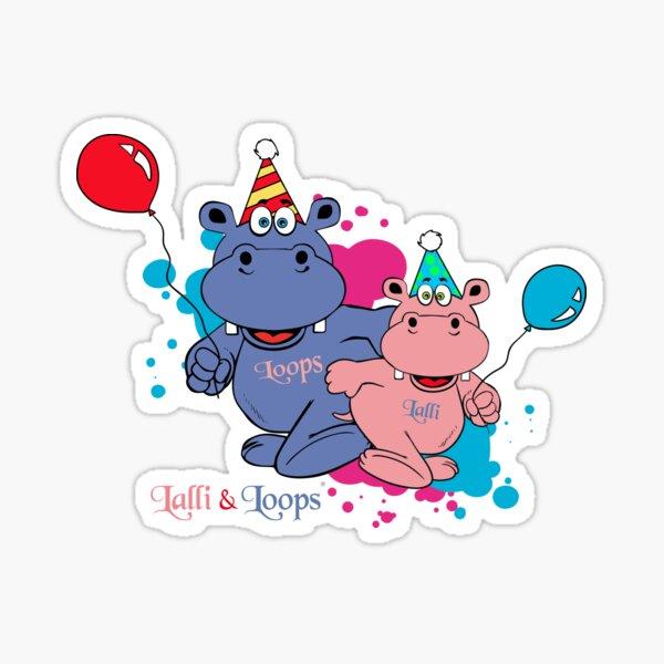 Hippos Nilpferde Lalli und Loops Herzlichen Glückwunsch Sticker
