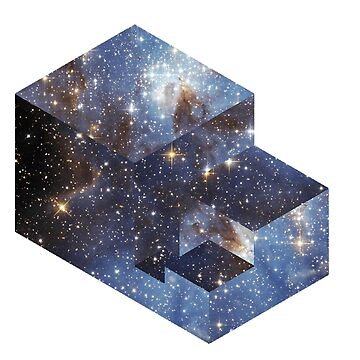 Isometric Cube  ( Stars )  by doodles-digital