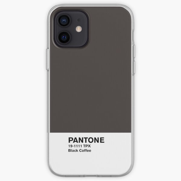 Black Coffee Pantone iPhone Soft Case