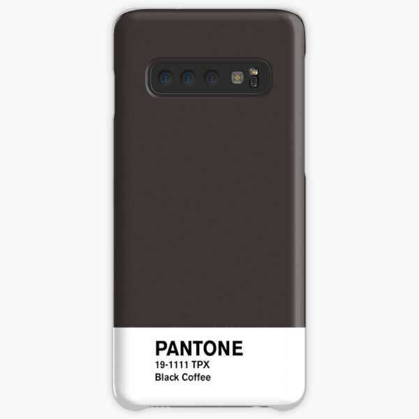 Café Negro Pantone Funda rígida para Samsung Galaxy