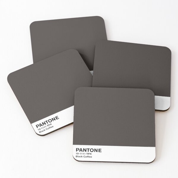 Black Coffee Pantone Coasters (Set of 4)