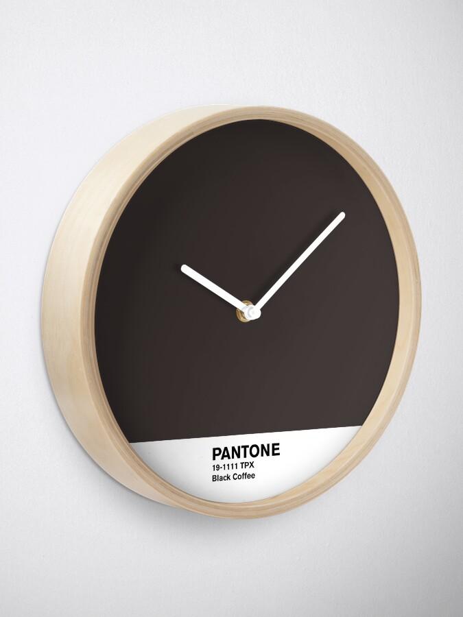 Alternate view of Black Coffee Pantone Clock