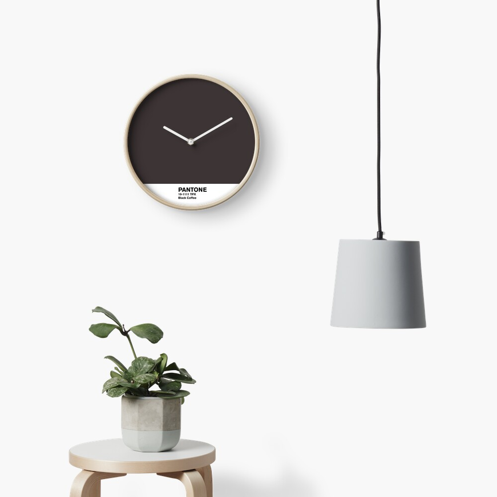 Black Coffee Pantone Clock