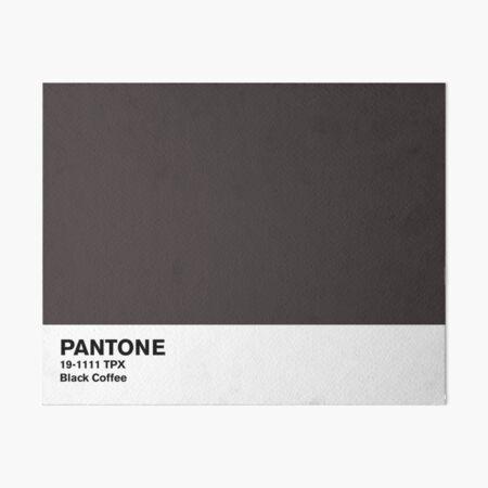 Black Coffee Pantone Art Board Print
