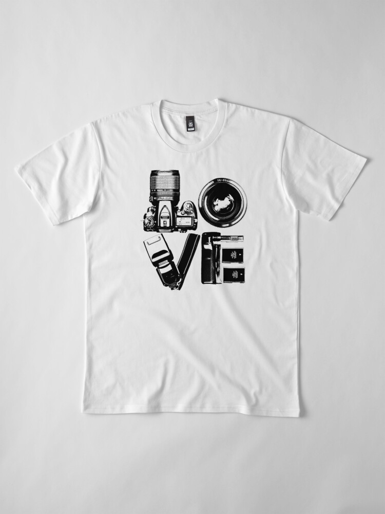 Alternate view of Love Photography Premium T-Shirt