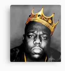 The King Notorious B.I.G Metal Print