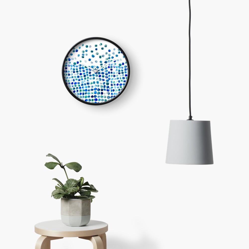 Blue Sea Glass Clock