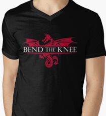 Bend The Knee Shirt King Or Queen Cosplay Gear Men's V-Neck T-Shirt