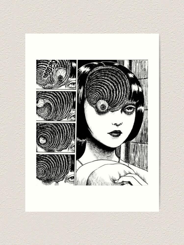 Junji Ito Uzumaki Art Print By Weloveanime Redbubble