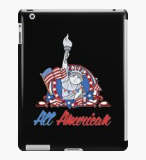 All American Patriotic 4th of July Memorial T-Shirt iPad Case/Skin