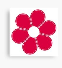 Red flower seamless pattern Canvas Print