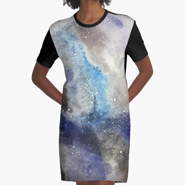 Space Exploration Graphic T-Shirt Dress