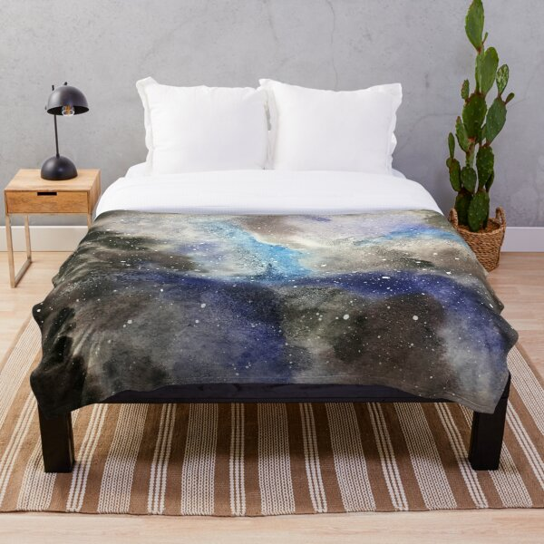 Space Exploration Throw Blanket