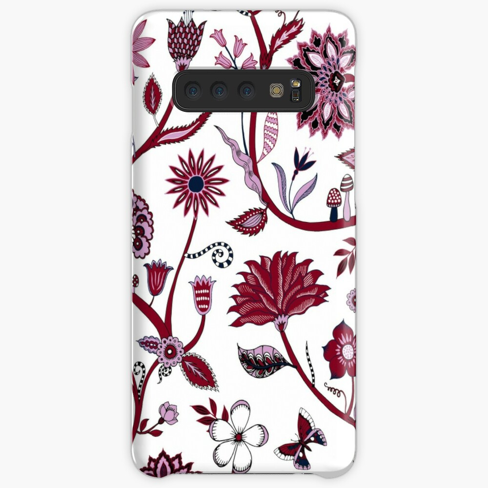 Fantasy Indian Floral - elegant, romantic pattern by Cecca Designs Case & Skin for Samsung Galaxy