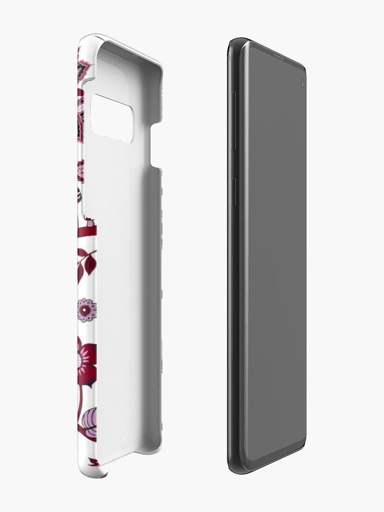 Alternate view of Fantasy Indian Floral - elegant, romantic pattern by Cecca Designs Case & Skin for Samsung Galaxy