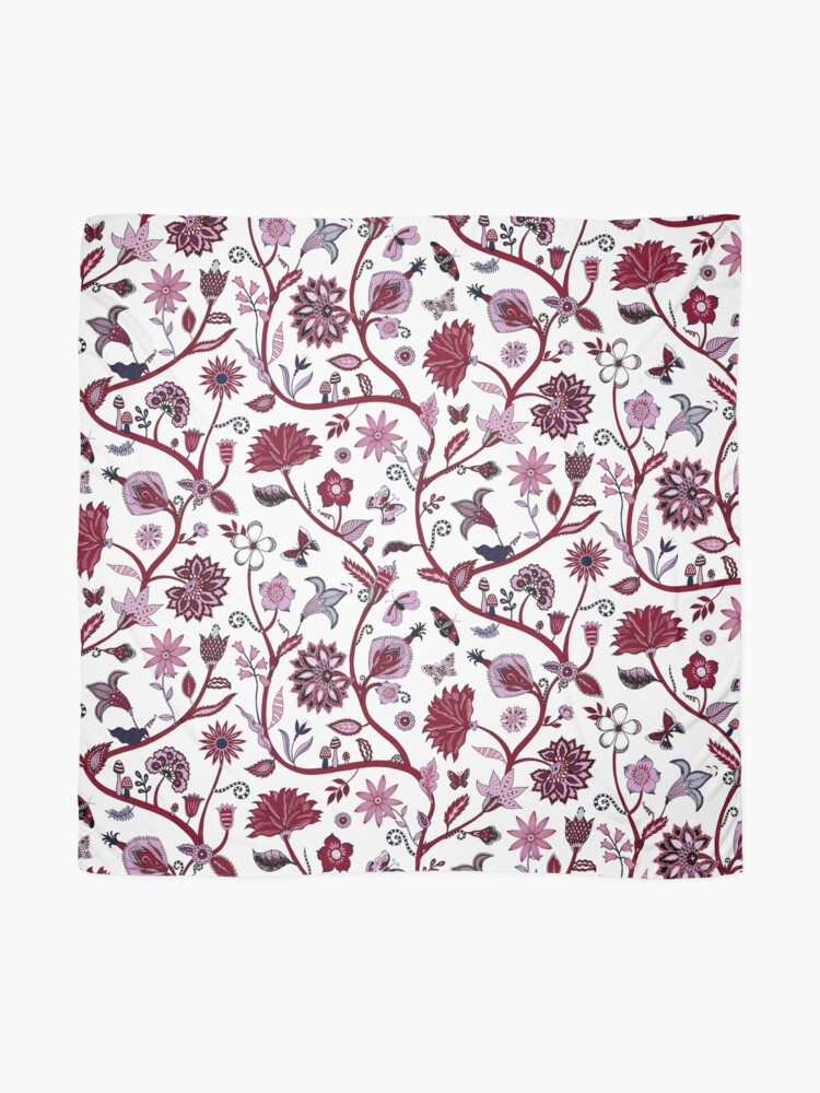 Alternate view of Fantasy Indian Floral - elegant, romantic pattern by Cecca Designs Scarf