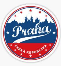Pegatina Praga, Praha, Ciudad de la República Checa, círculo