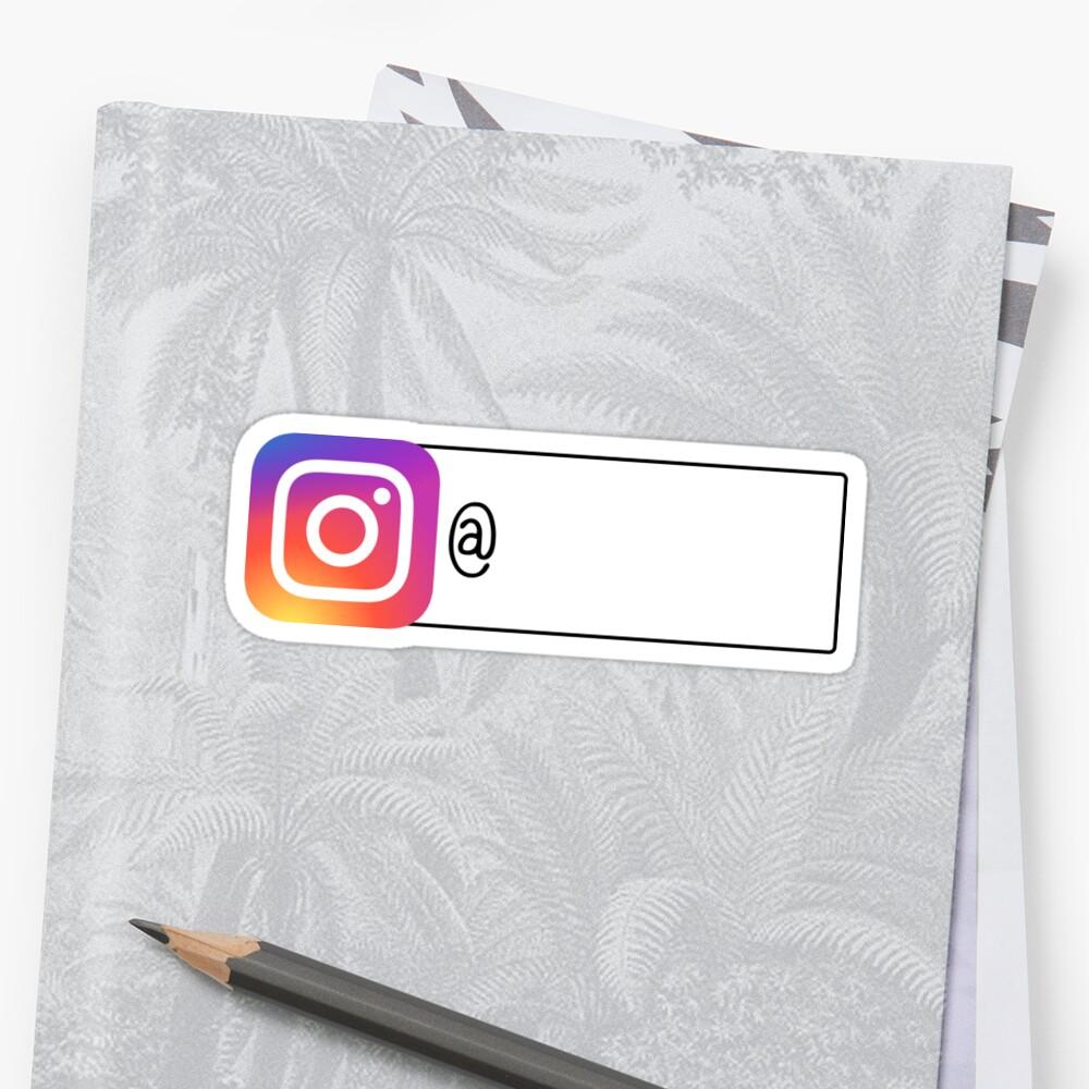 Folge mir auf Instagram Sticker