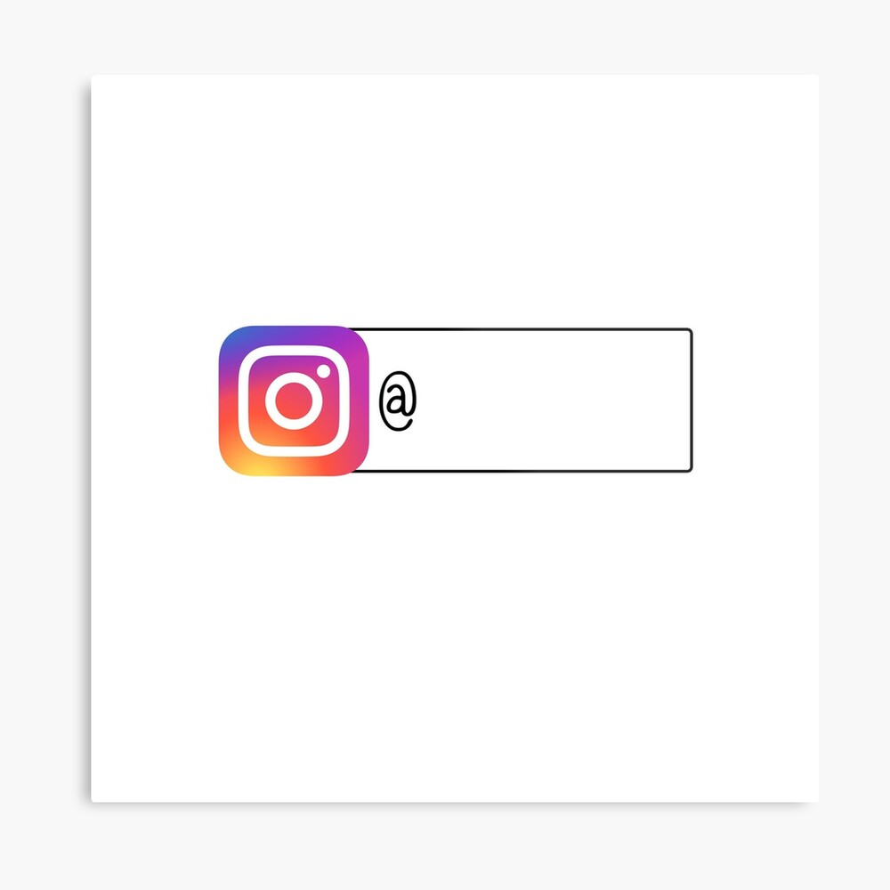 Folge mir auf Instagram Metallbild