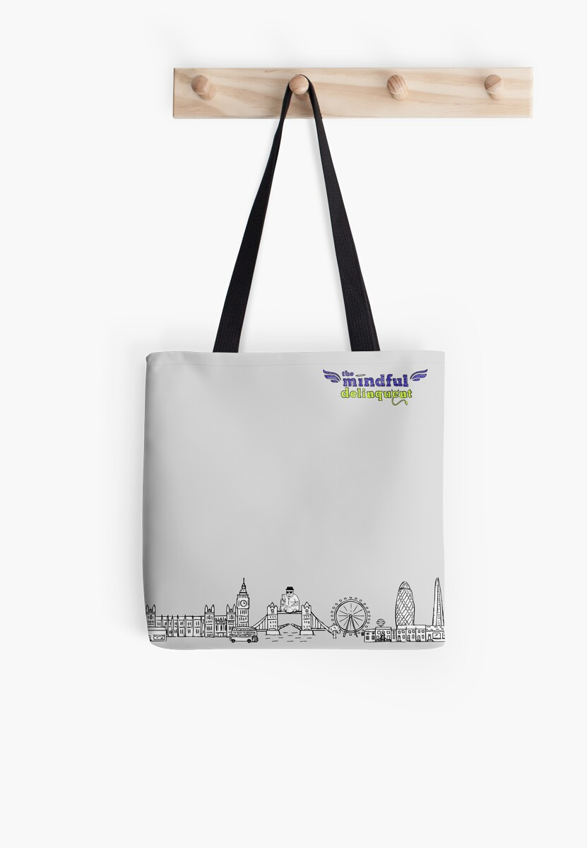 The Mindful Delinquent Tote Bag by Lyn O'Donnell