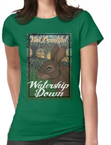 Visit Beautiful Watership Down Womens Fitted T-Shirt
