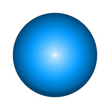 BLUE ORB, spiritually associated with psychic energy and truth. by TOMSREDBUBBLE