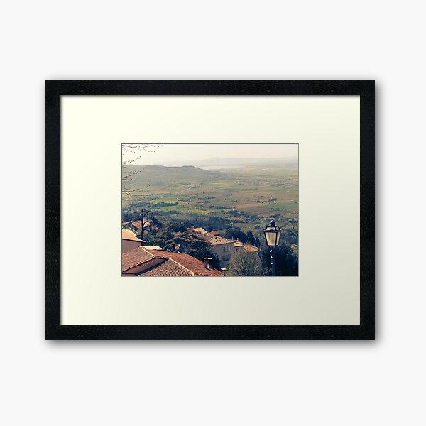 Cortona. Italy. Tuscany Framed Art Print