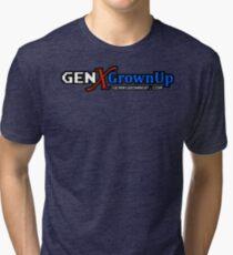 GenXGrownUp GXG Wide Logo & URL Tri-blend T-Shirt